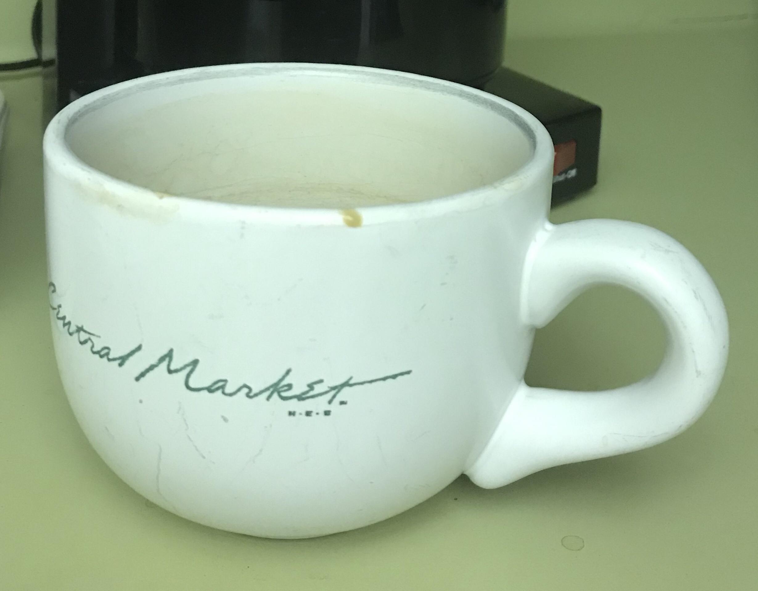 this is a coffee bowl: bigger than a mug, has a handle